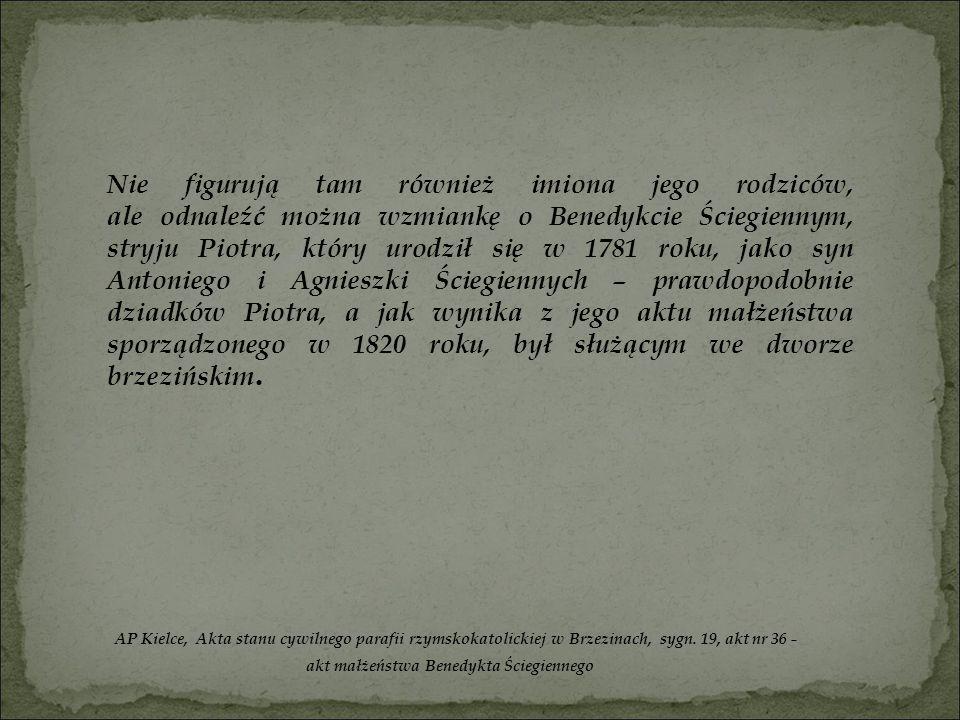 akt małżeństwa Benedykta Ściegiennego