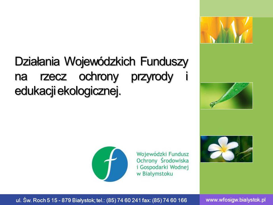 Działania Wojewódzkich Funduszy na rzecz ochrony przyrody i edukacji ekologicznej.