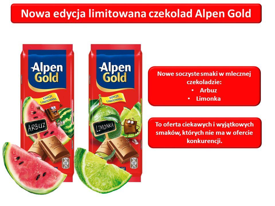 Nowa edycja limitowana czekolad Alpen Gold