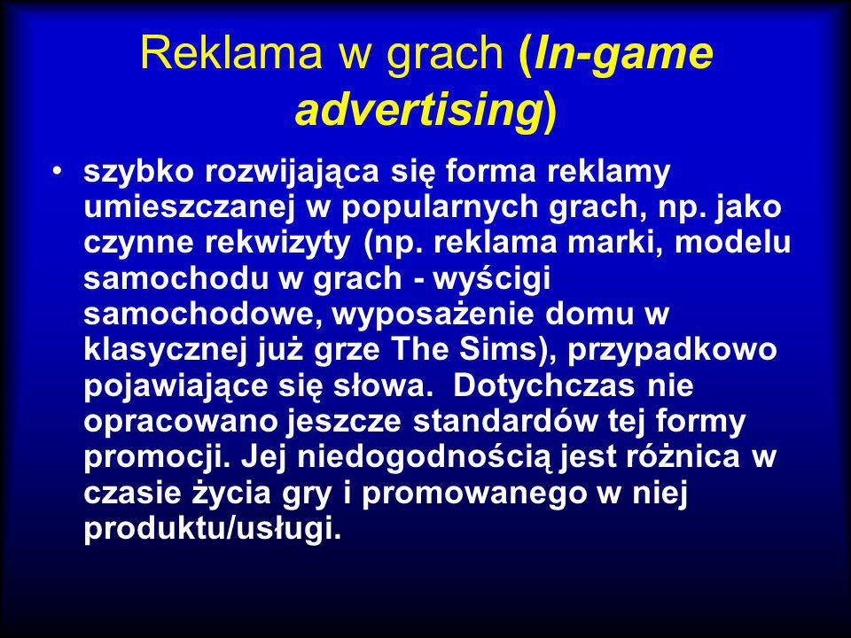 Reklama w grach (In-game advertising)