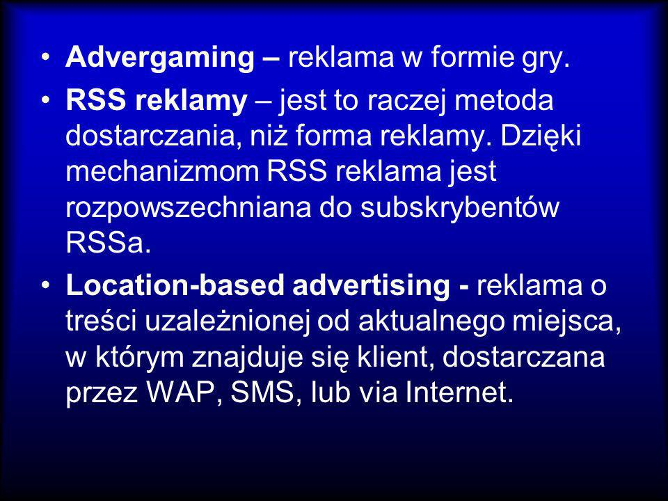 Advergaming – reklama w formie gry.