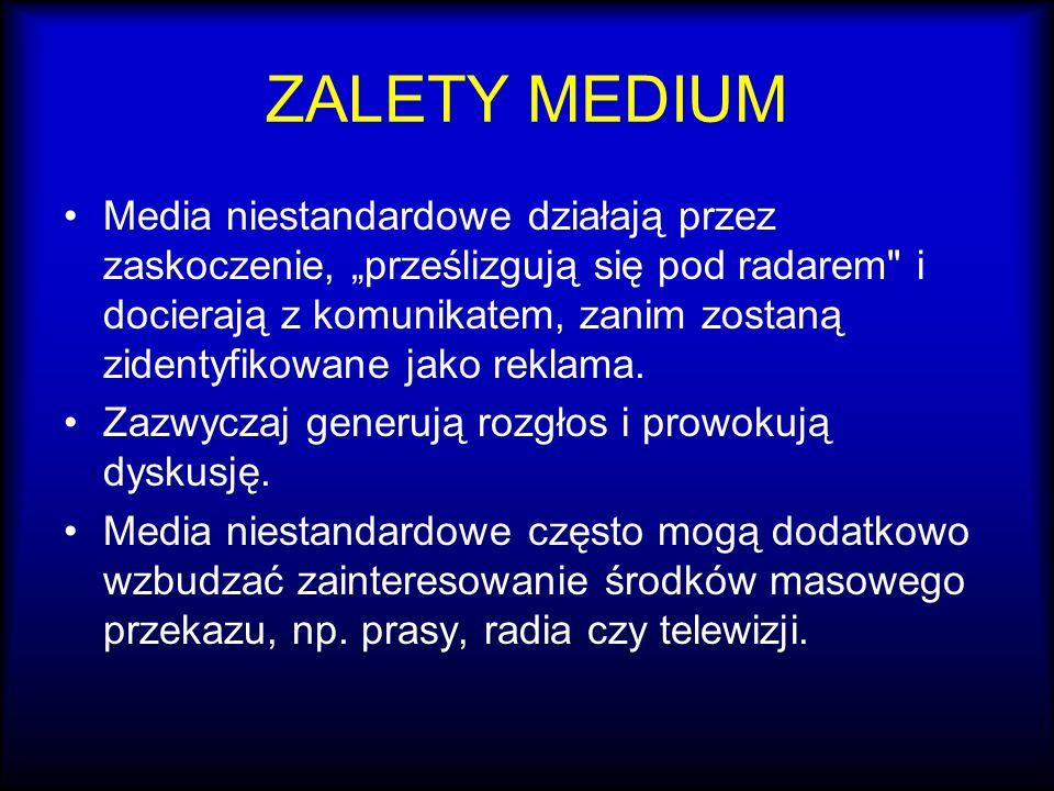 ZALETY MEDIUM
