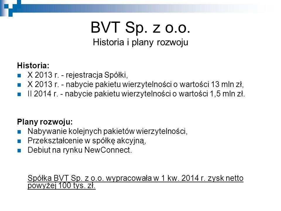BVT Sp. z o.o. Historia i plany rozwoju