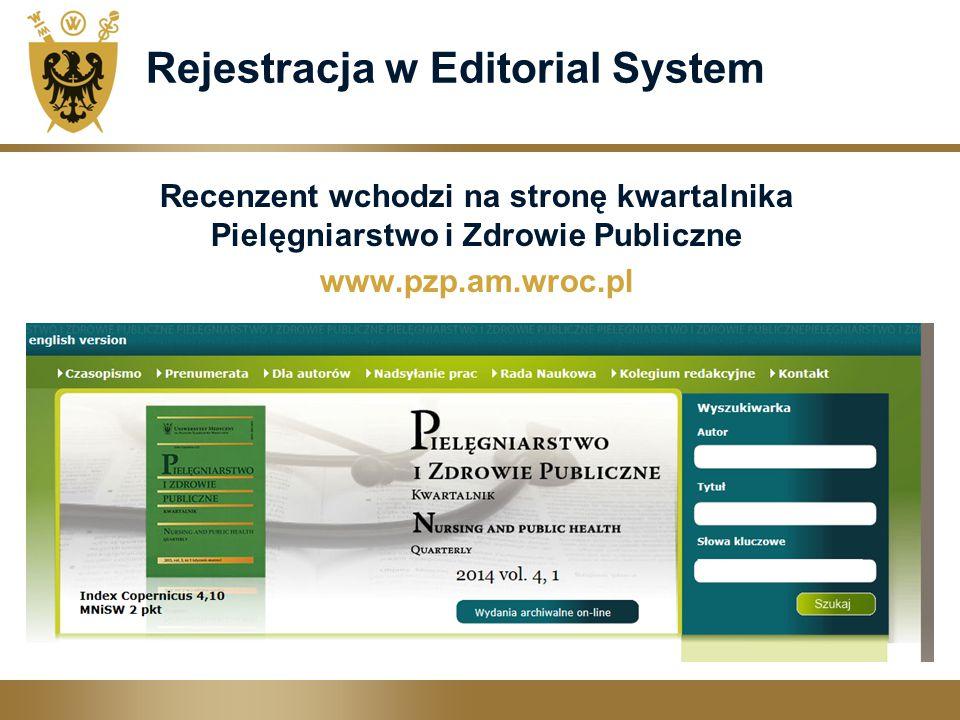 Rejestracja w Editorial System