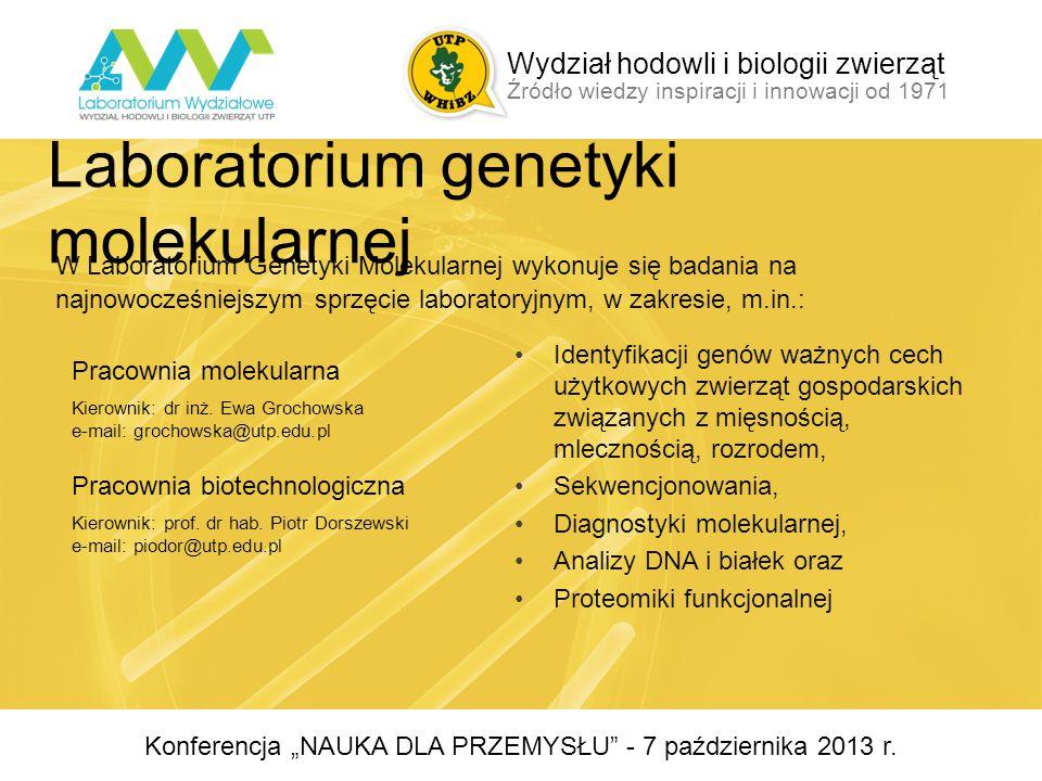 Laboratorium genetyki molekularnej