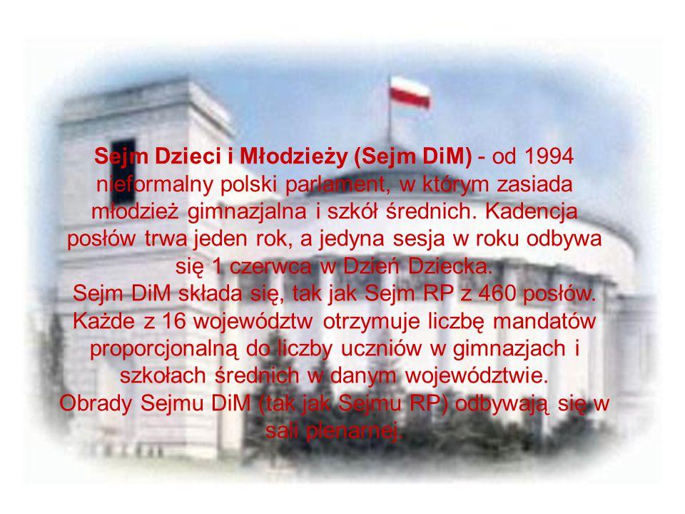 Obrady Sejmu DiM (tak jak Sejmu RP) odbywają się w sali plenarnej.