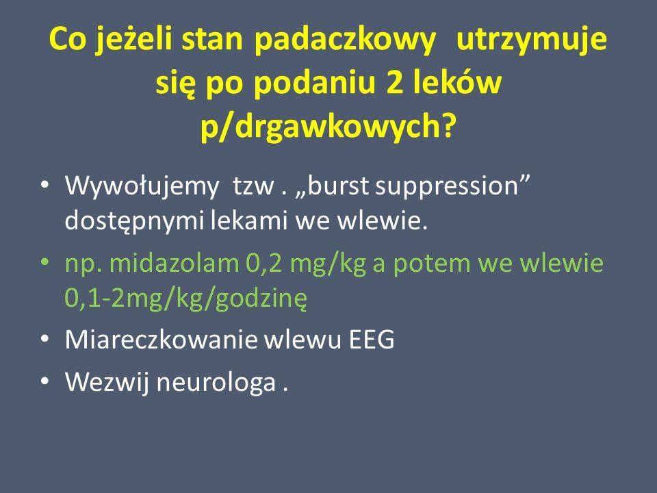 Co jeżeli stan padaczkowy utrzymuje się po podaniu 2 leków p/drgawkowych