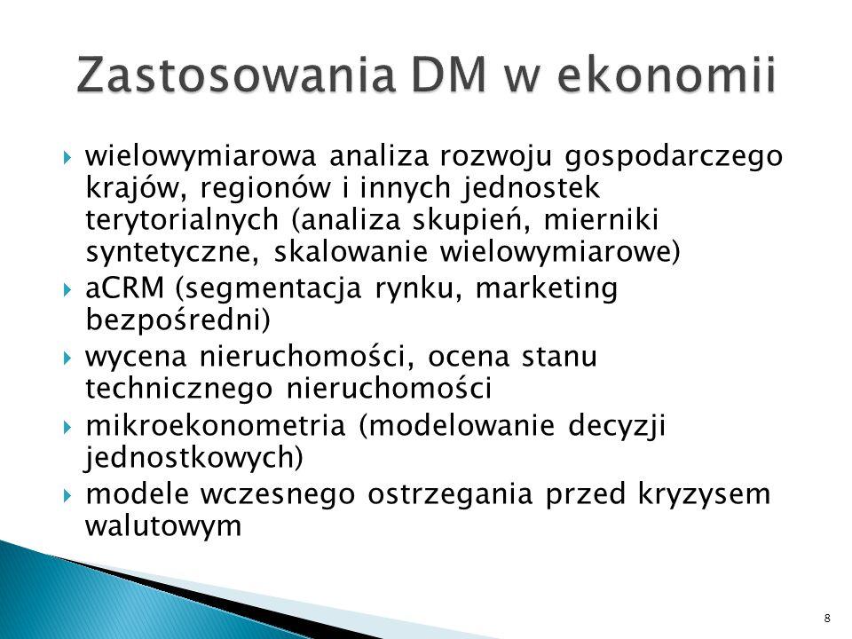 Zastosowania DM w ekonomii
