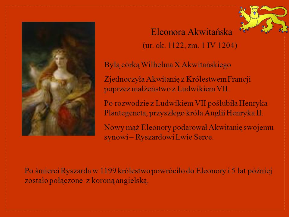 Eleonora Akwitańska (ur. ok. 1122, zm. 1 IV 1204)