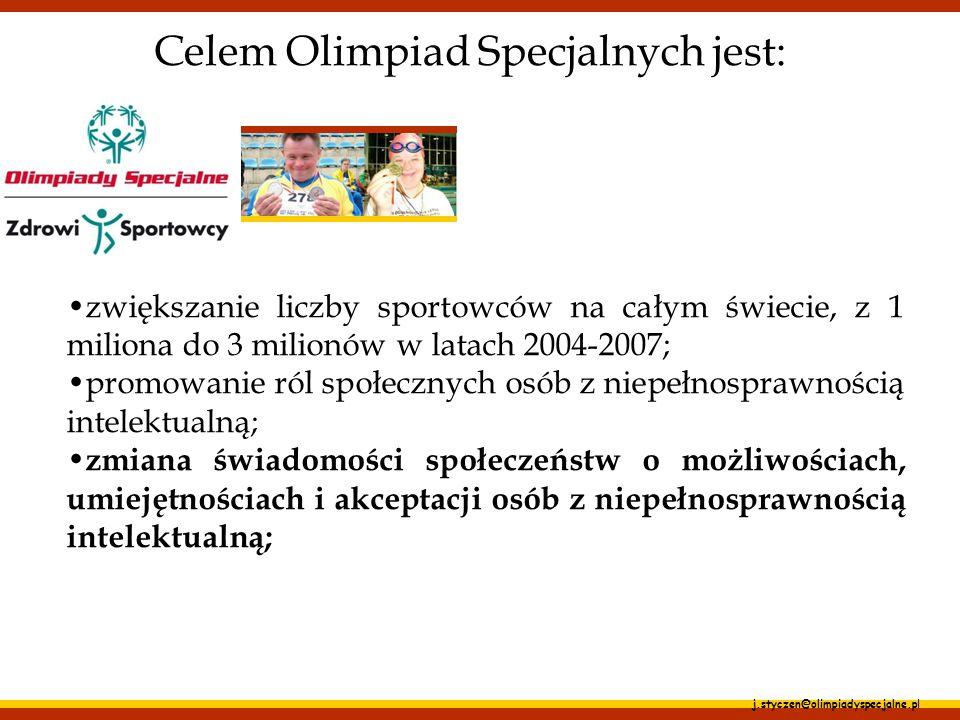 Celem Olimpiad Specjalnych jest: