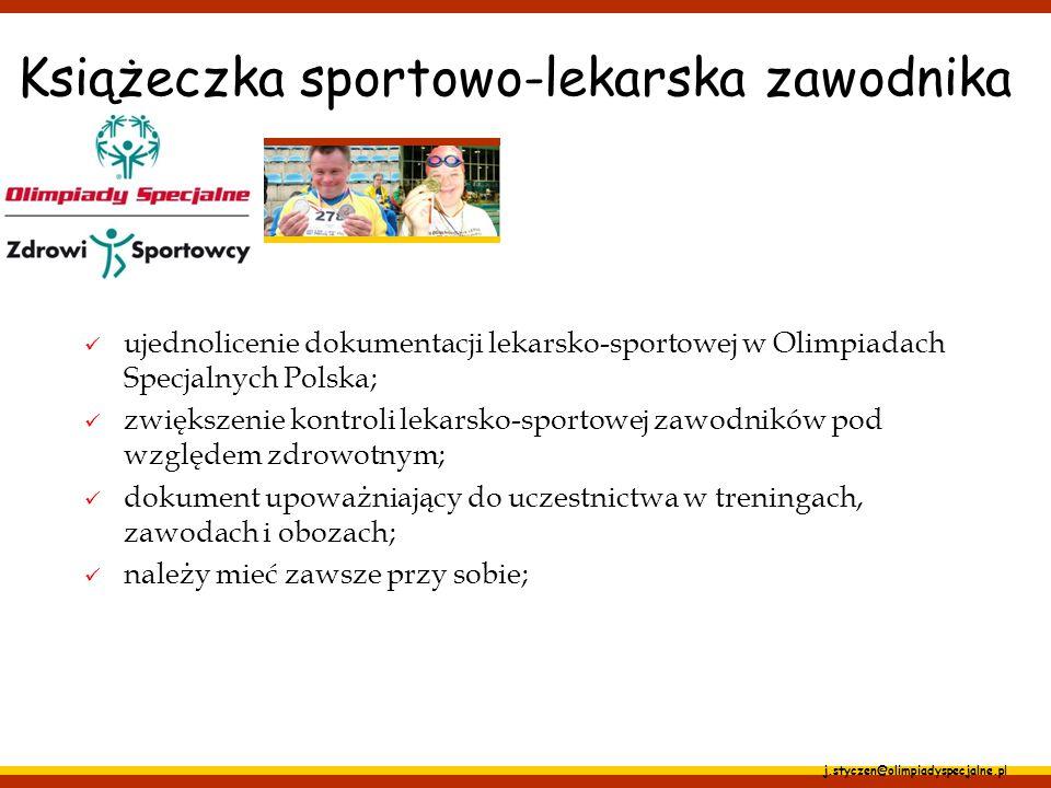 Książeczka sportowo-lekarska zawodnika