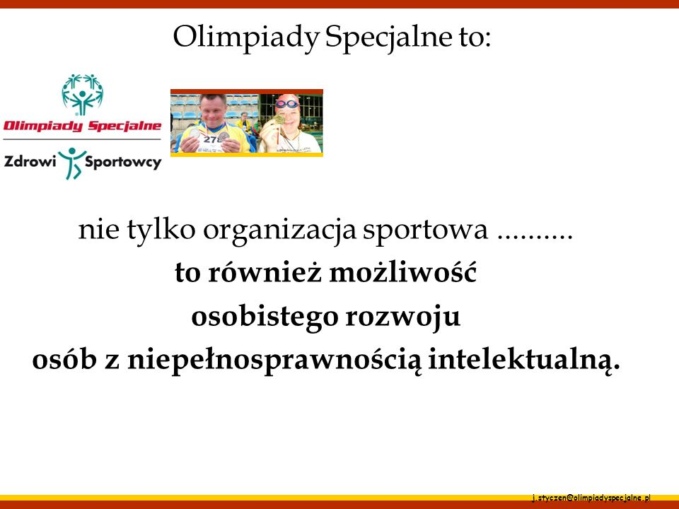 Olimpiady Specjalne to: