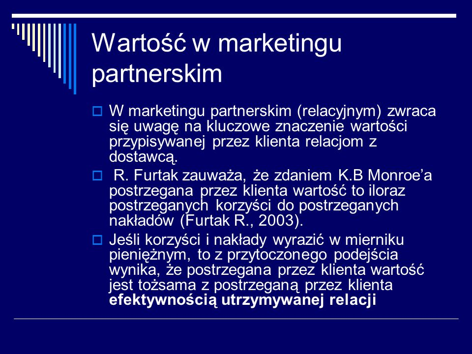 Wartość w marketingu partnerskim