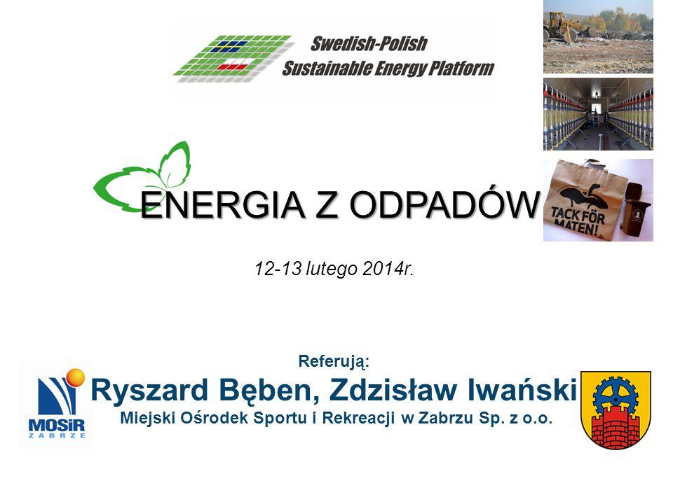 ENERGIA Z ODPADÓW Ryszard Bęben, Zdzisław Iwański 12-13 lutego 2014r.