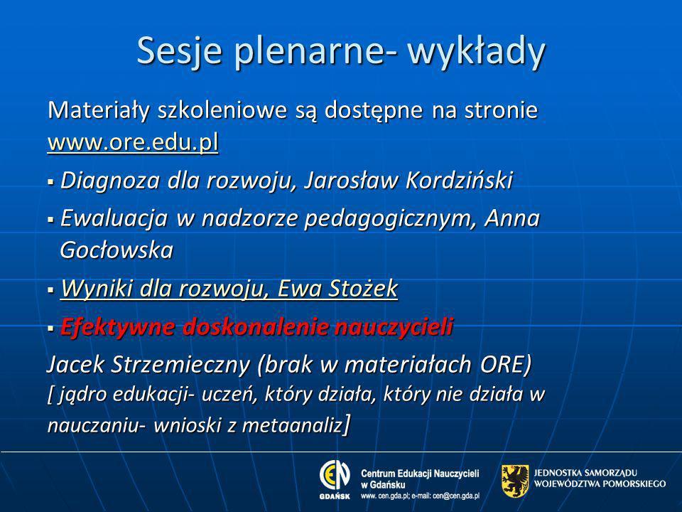Sesje plenarne- wykłady
