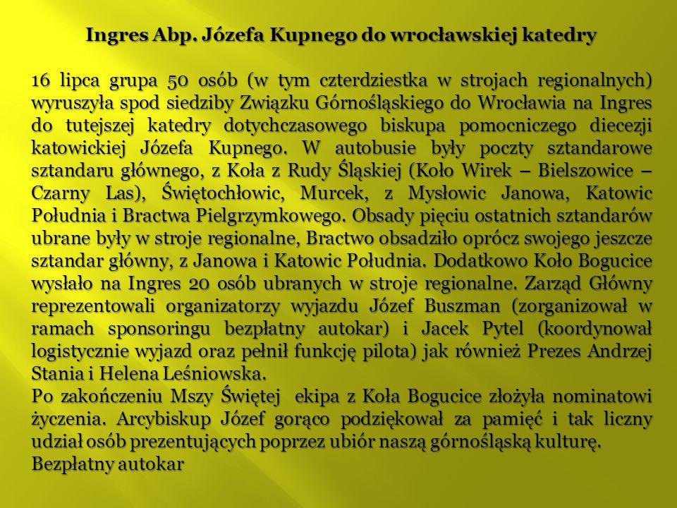Ingres Abp. Józefa Kupnego do wrocławskiej katedry