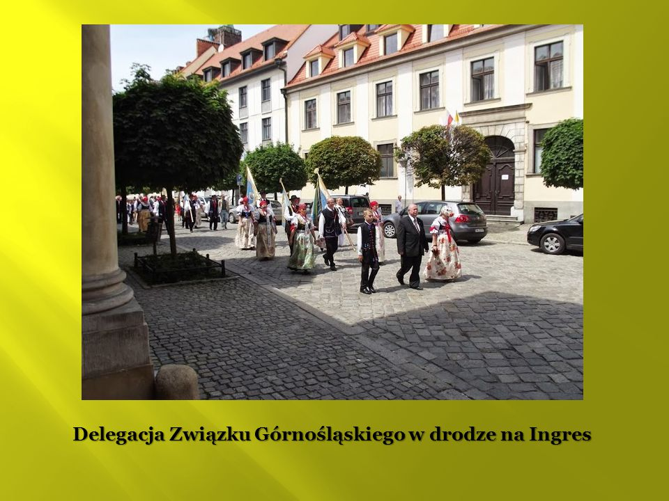 Delegacja Związku Górnośląskiego w drodze na Ingres