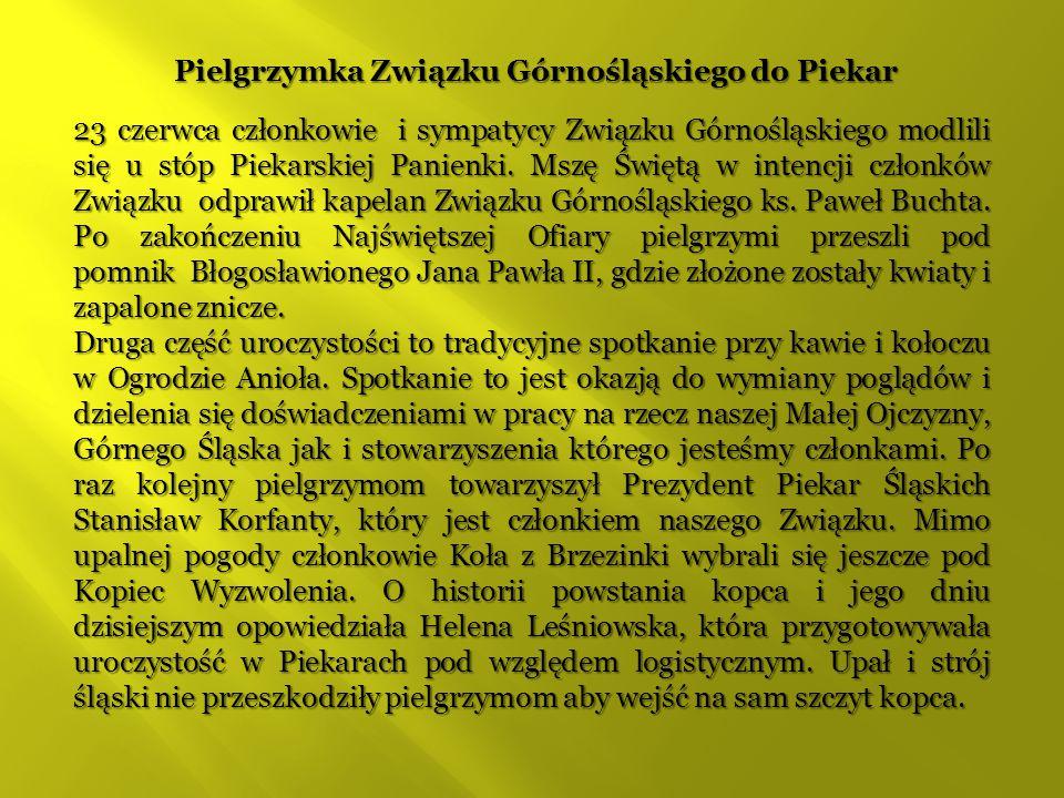 Pielgrzymka Związku Górnośląskiego do Piekar