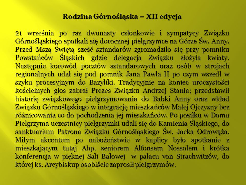 Rodzina Górnośląska – XII edycja