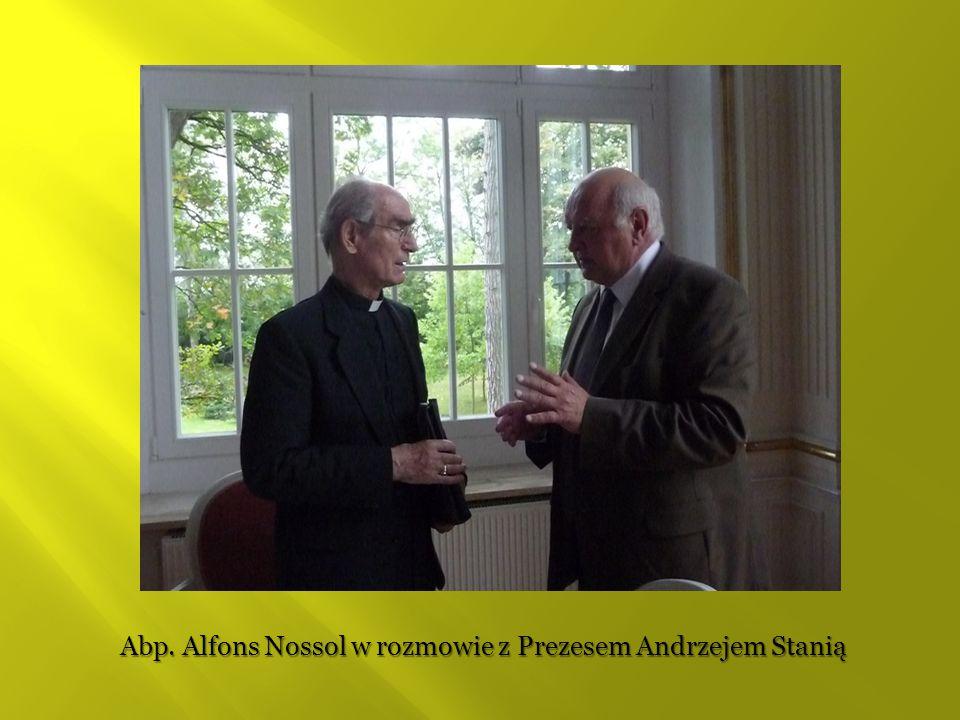 Abp. Alfons Nossol w rozmowie z Prezesem Andrzejem Stanią