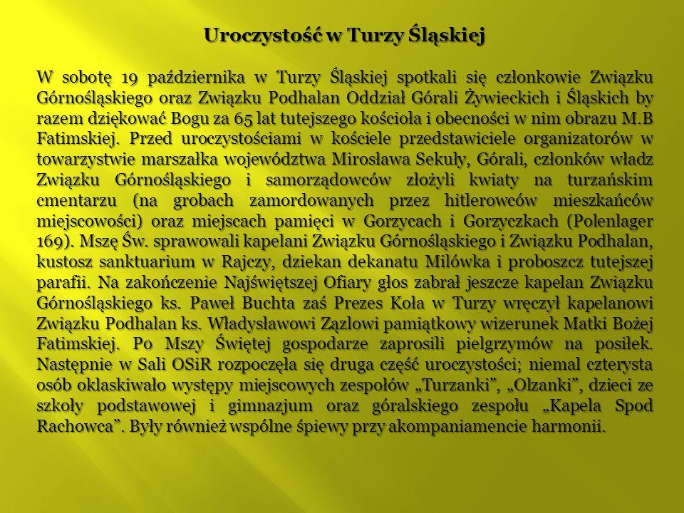 Uroczystość w Turzy Śląskiej
