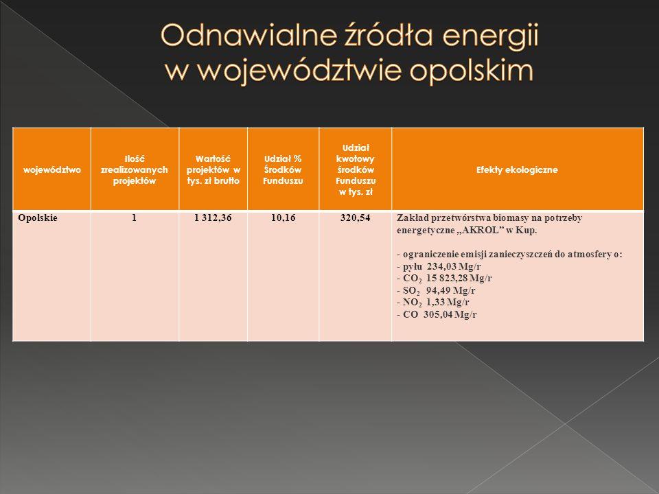 Odnawialne źródła energii w województwie opolskim