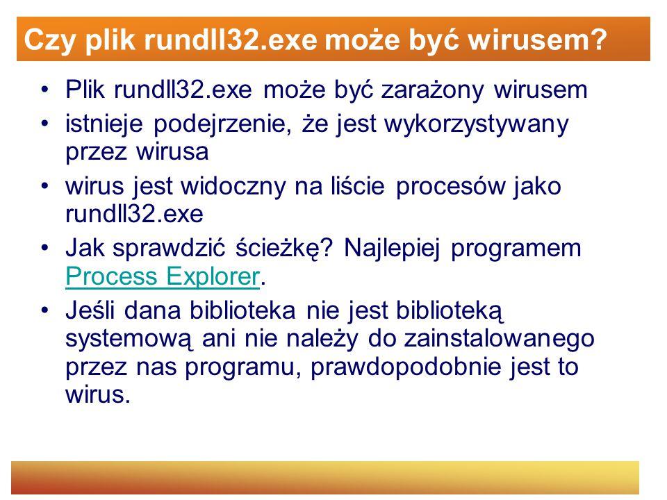 Czy plik rundll32.exe może być wirusem