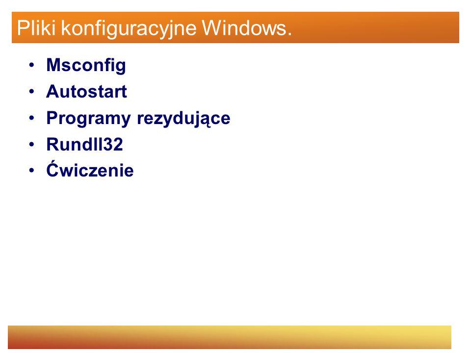 Pliki konfiguracyjne Windows.