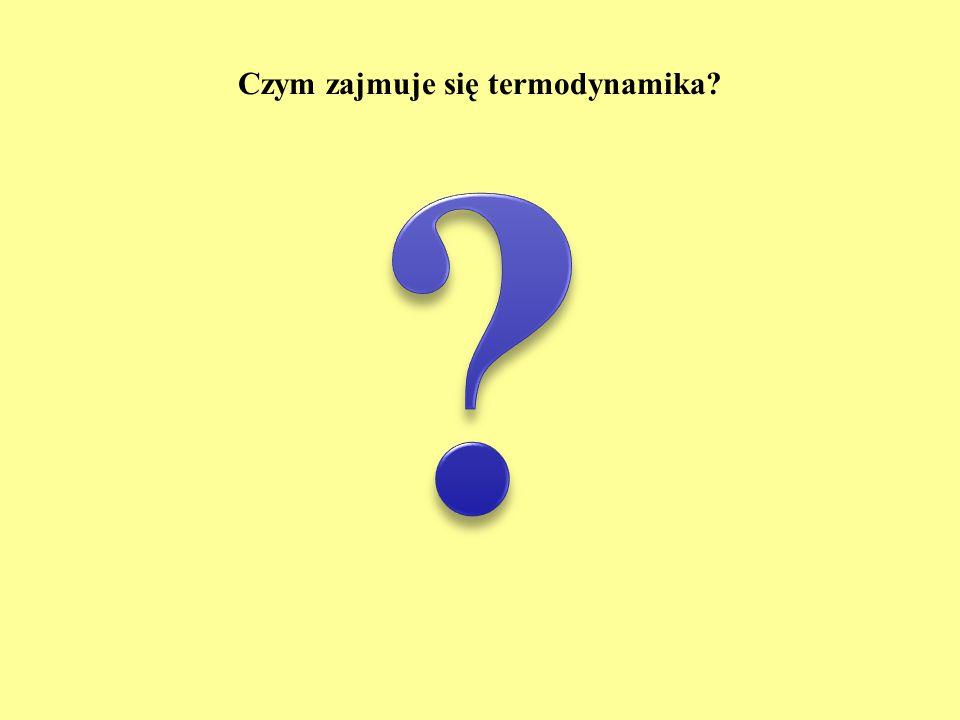 Czym zajmuje się termodynamika