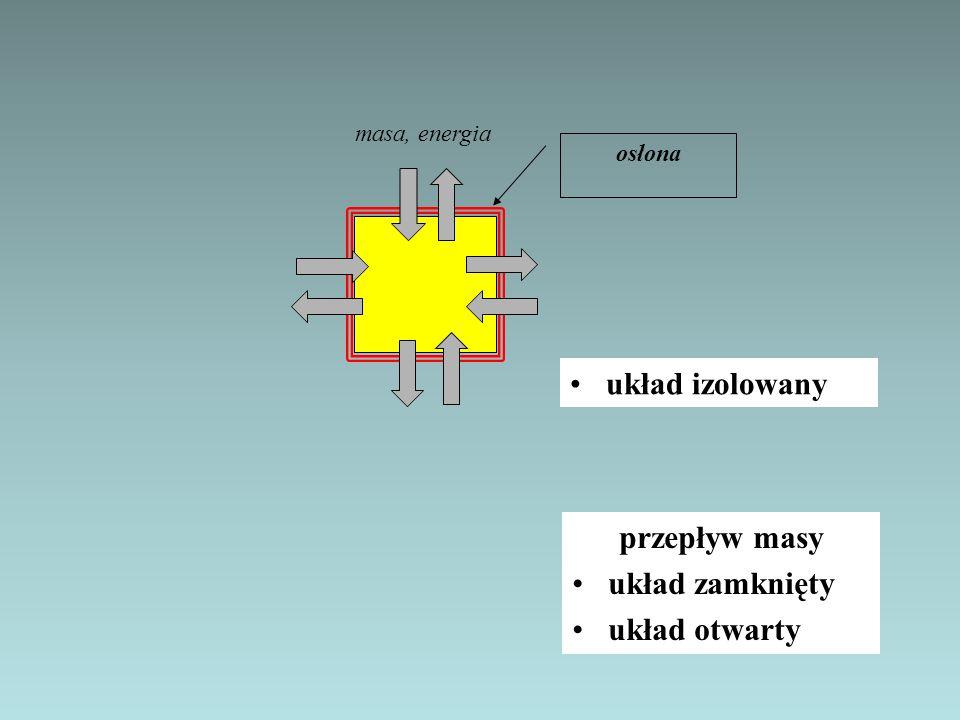 układ izolowany przepływ masy układ zamknięty układ otwarty