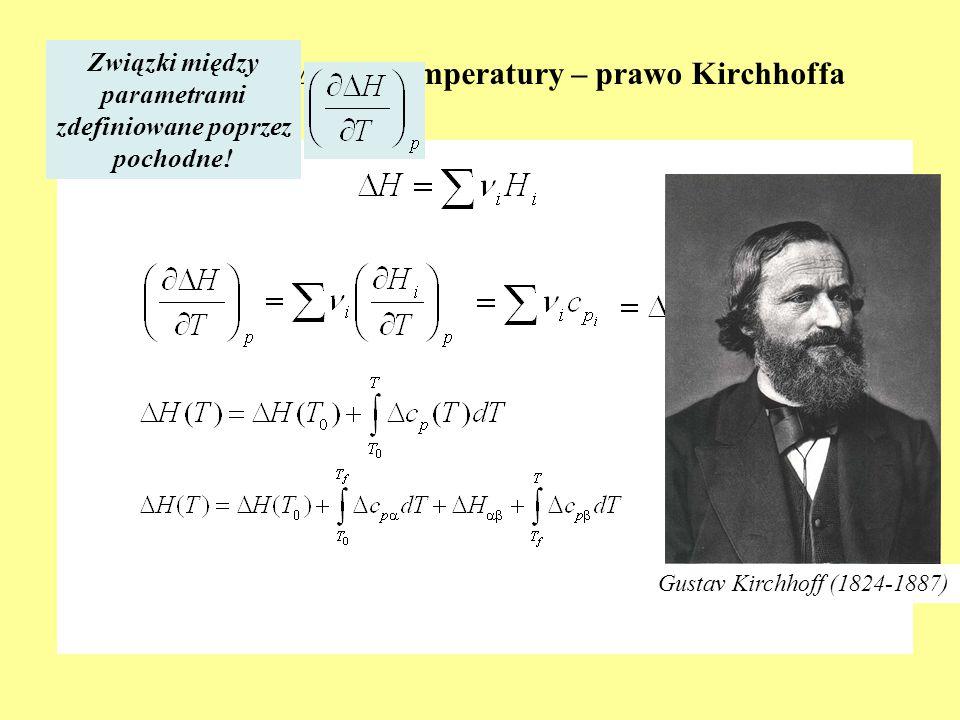 Zależność ∆H od temperatury – prawo Kirchhoffa
