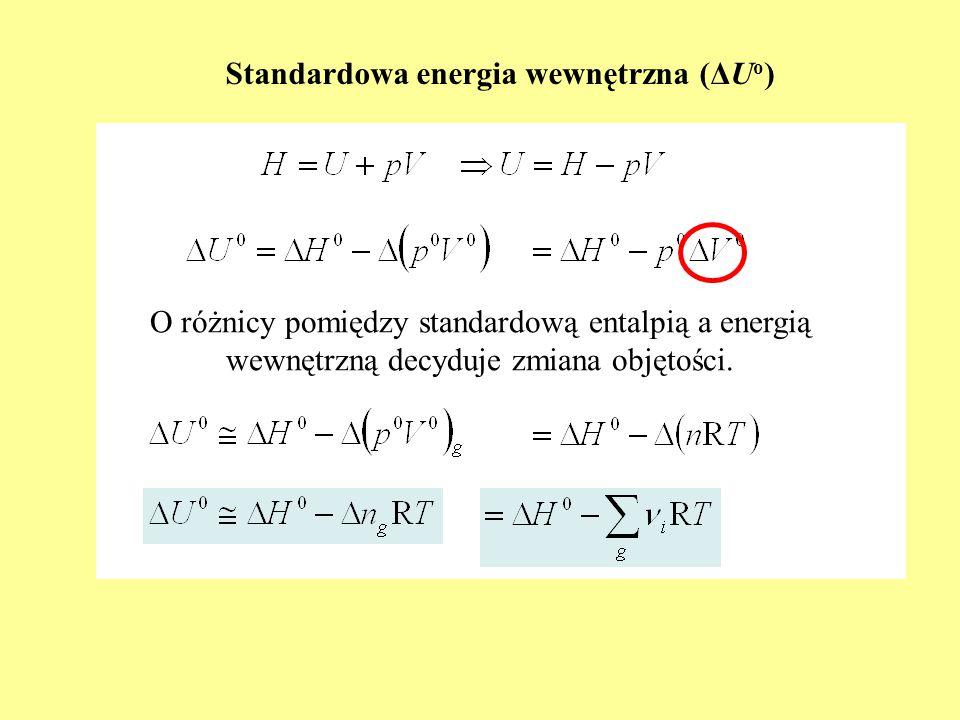 Standardowa energia wewnętrzna (ΔUo)