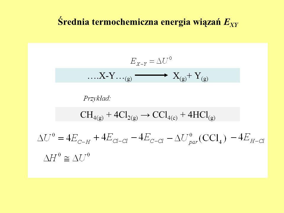 Średnia termochemiczna energia wiązań EXY