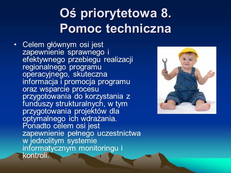 Oś priorytetowa 8. Pomoc techniczna
