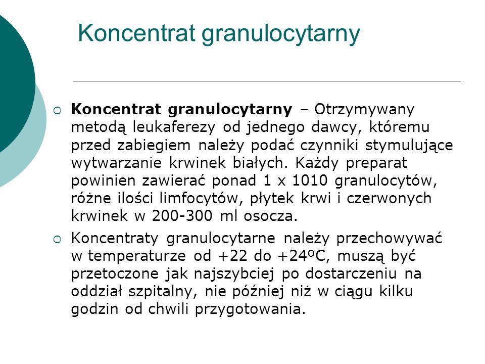 Koncentrat granulocytarny