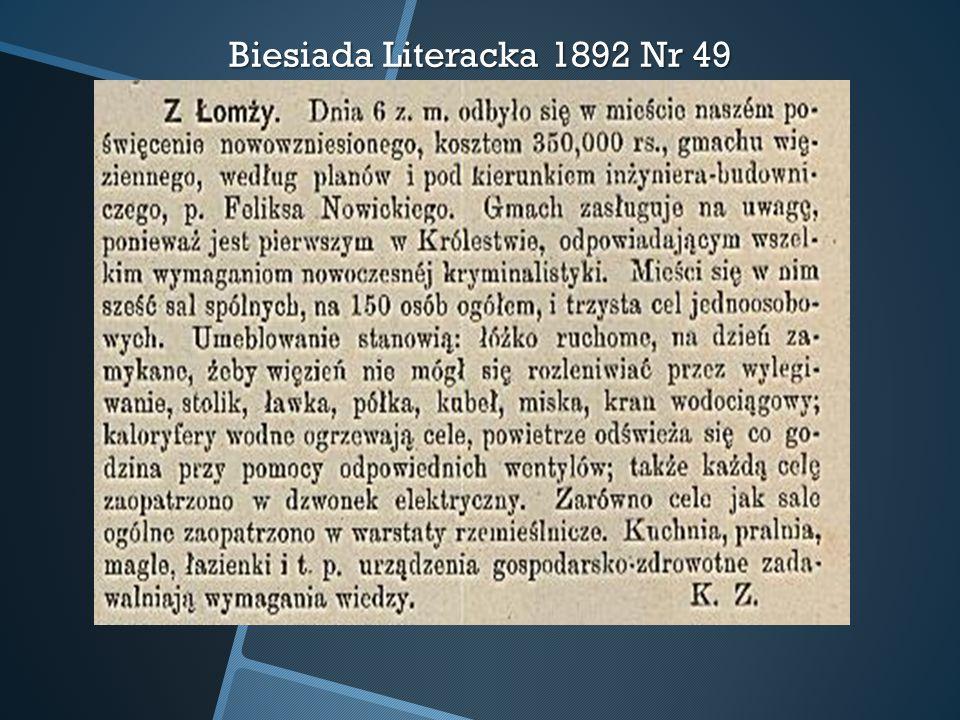 Biesiada Literacka 1892 Nr 49
