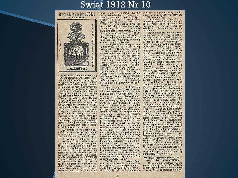 Świat 1912 Nr 10