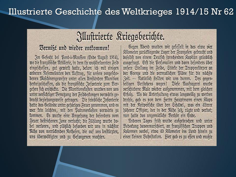 Illustrierte Geschichte des Weltkrieges 1914/15 Nr 62