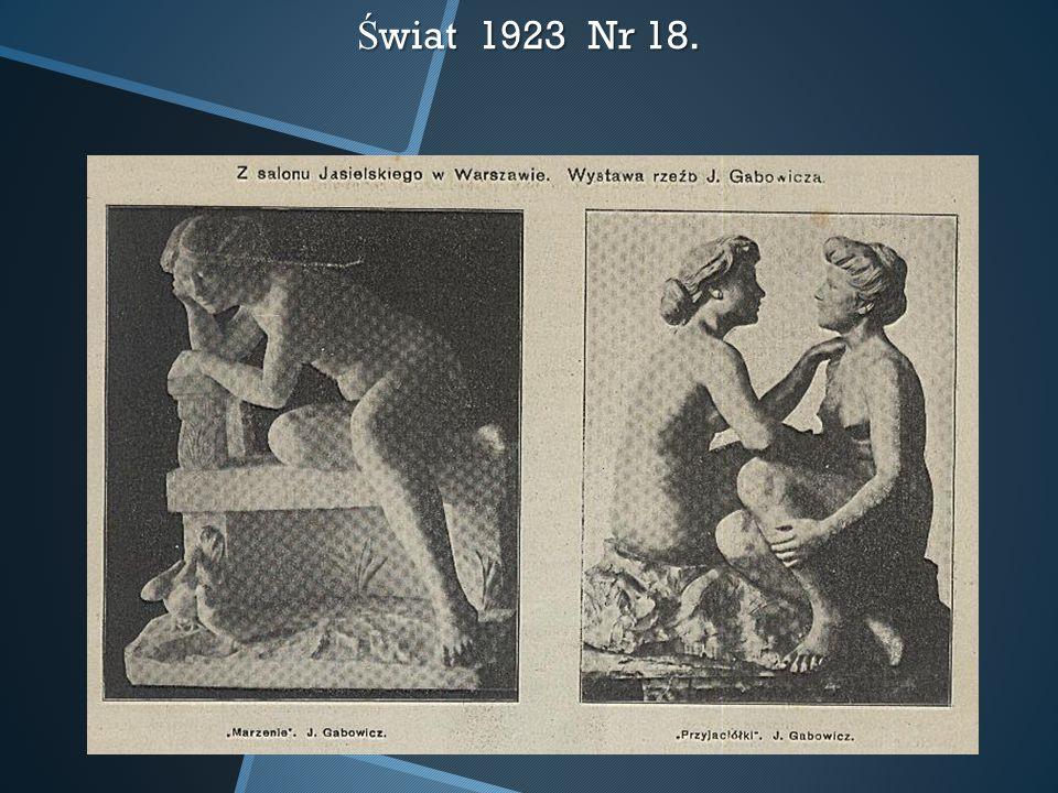 Świat 1923 Nr 18.