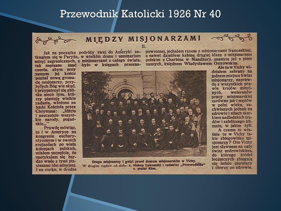 Przewodnik Katolicki 1926 Nr 40