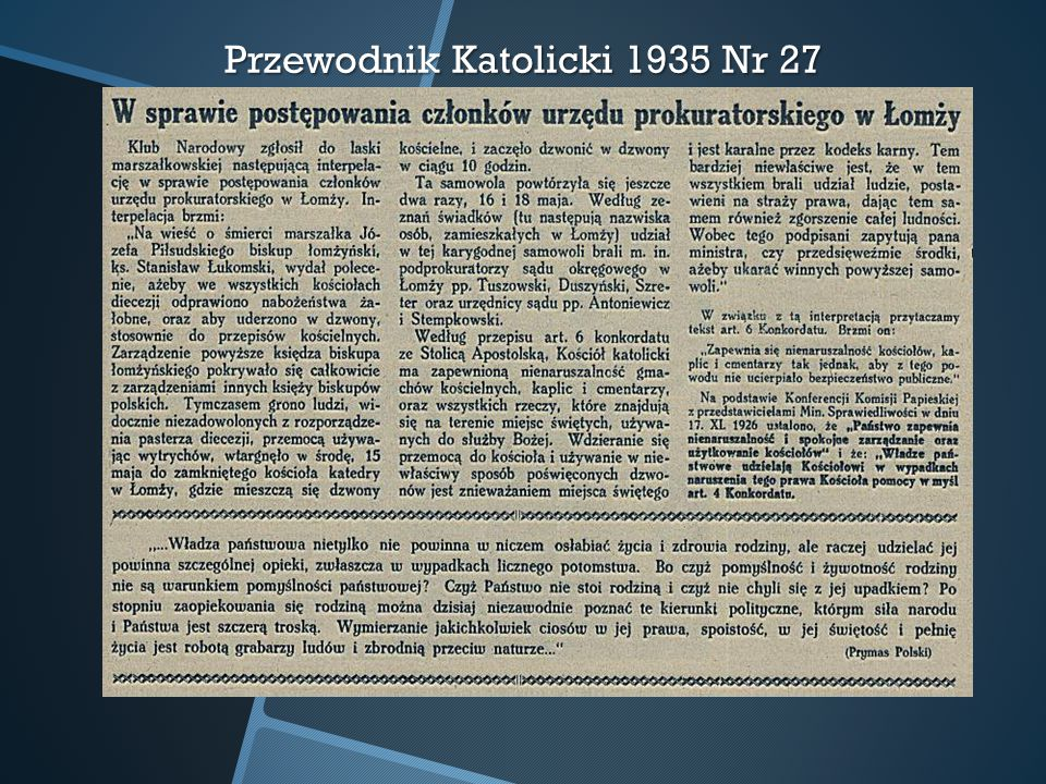 Przewodnik Katolicki 1935 Nr 27