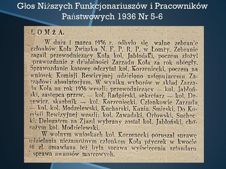 Głos Niższych Funkcjonariuszów i Pracowników Państwowych 1936 Nr 5-6