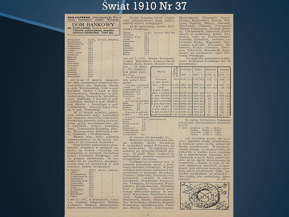 Świat 1910 Nr 37