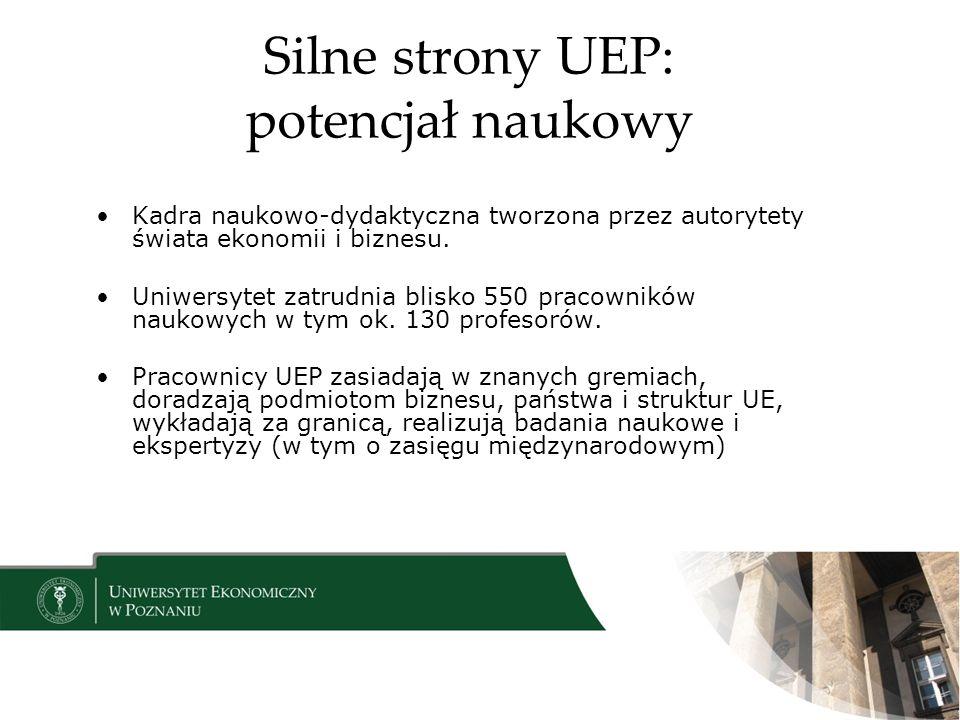 Silne strony UEP: potencjał naukowy