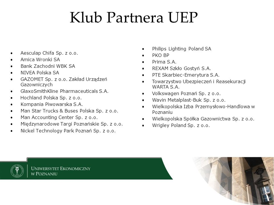 Klub Partnera UEP Philips Lighting Poland SA PKO BP