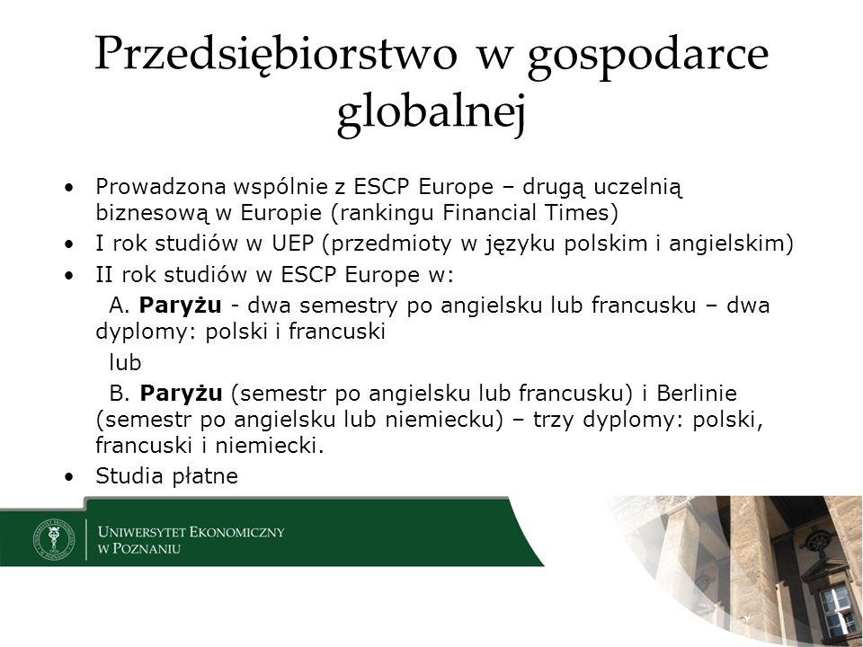 Przedsiębiorstwo w gospodarce globalnej