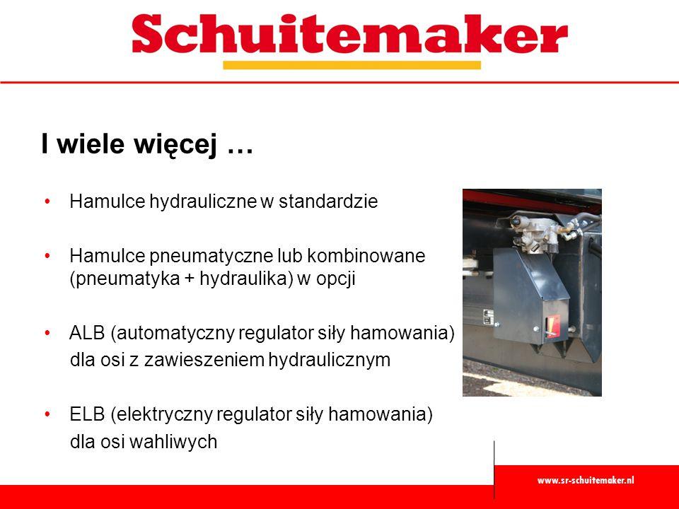 I wiele więcej … Hamulce hydrauliczne w standardzie