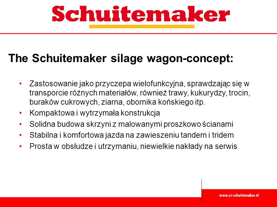 The Schuitemaker silage wagon-concept: