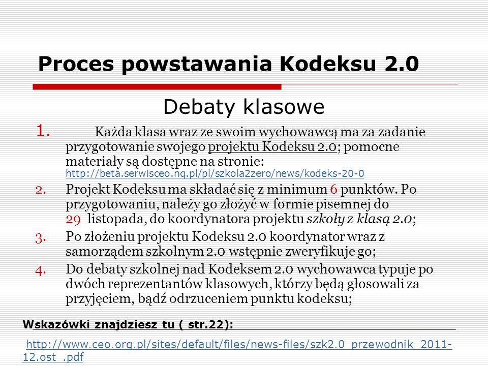 Proces powstawania Kodeksu 2.0