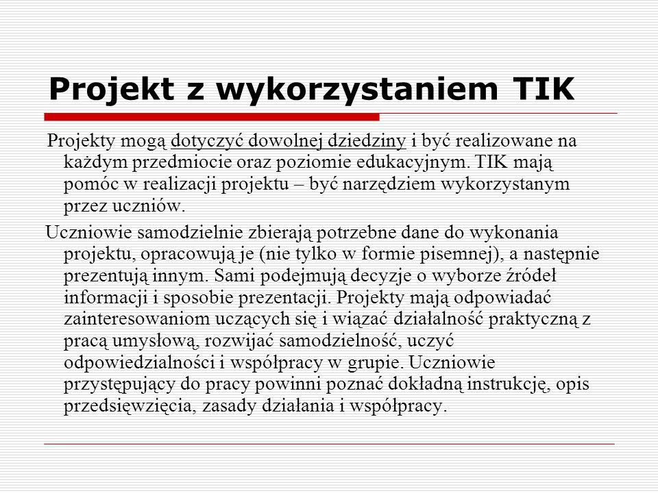 Projekt z wykorzystaniem TIK